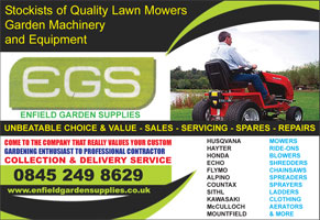 lawnmower / garden machinery Enfield