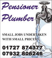 Plumber Heating engineer St Albans Hertfordshire