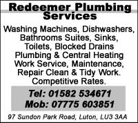 Washing Machines, dishwashers, bathroom suits, sinks, toilets, blocked drains etc
