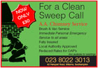 For a clean sweep - Brush and vacum chimney sweep service