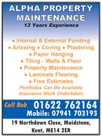 Property maintenance - Artexing, coving, plastering, paper hanging, tiling , laminate flooring
