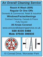contract cleaning - windows, facias, carpets & floors - domestic and commercial