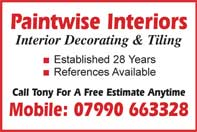 Interior decorating and tiling Free estimate