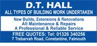 All types of building work undertaken - extensions and renovations
