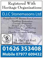 Stonemasons - carving, engraving stone cutting, stone cleaning, etc