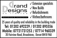 Extension specialists, new builds, refurbishments 25 years of qulity in the building trade