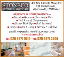 experts in stone - marble , granite, limestone, slate, yorkstone
