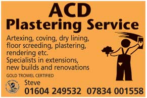 Artexing, coving, dry lining, floor screeding, plastering rendering, etc
