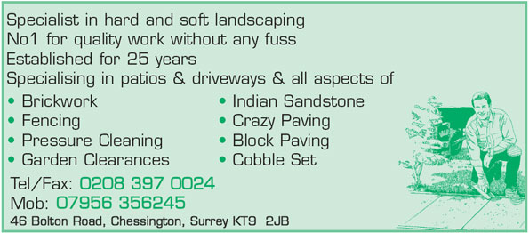 Specialist in hard and soft landscaping
