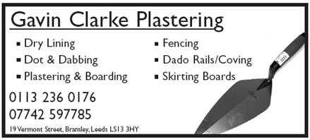 Plastering - dry lining dot and dabbing plastering and boarding dado rails / coving - skirting board