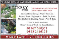 Largest range of rocks - natural stone paving, water features, etc