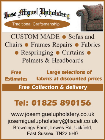 Chairs - Frames Repairs - Sofas & Chairs - Fabrics - Respringing - Curtains - Pelmets & Headboards