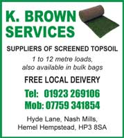 suppliers of screened soil