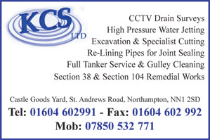 high pressure water jetting in Northampton