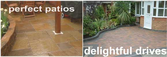 patios, drrives, landscaping